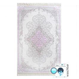 waschbarer teppich rosa pink moderner medaillon design my2516. Black Bedroom Furniture Sets. Home Design Ideas