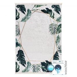 waschbarer teppich in creme gr n gold my5000. Black Bedroom Furniture Sets. Home Design Ideas