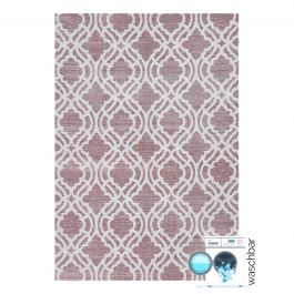 waschbarer teppich baumwolle antibakteriell abstrakt rosa my6902. Black Bedroom Furniture Sets. Home Design Ideas