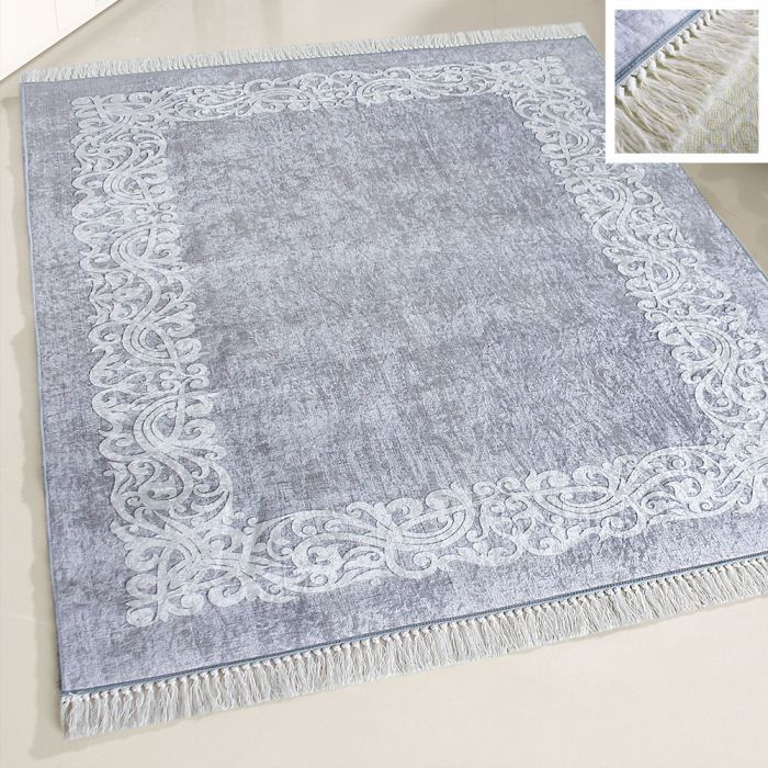 Waschbarer Teppich Grau | Moderne Designer Umrandung | MY2610 Caimaz-2610 Outdoor