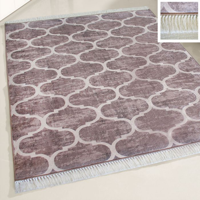 Waschbarer Teppich Braun Meliert | Marrokanisches Design | MY2810 Caimaz-2810 Outdoor