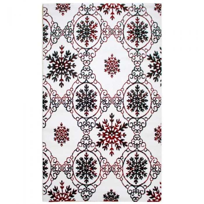 Küche Kurzflor Teppich Rot Weiss | Moderner Vintage | MY310K