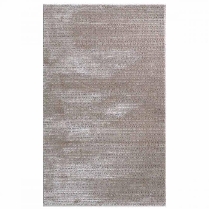 Gestreifte Muster Acryl Vintage Teppich Beige | mit 3D Kurzflor Polyester Muster | MY4131JP