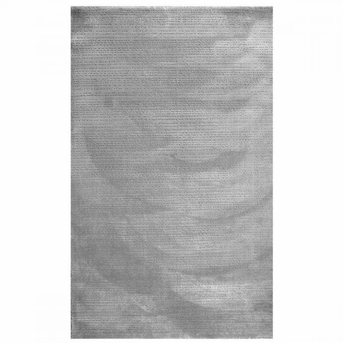 Acryl Vintage Teppich Grau | mit 3D Kurzflor Polyester Muster | MY4131SP ArtPrem-4131-grau Gestreifte Muster