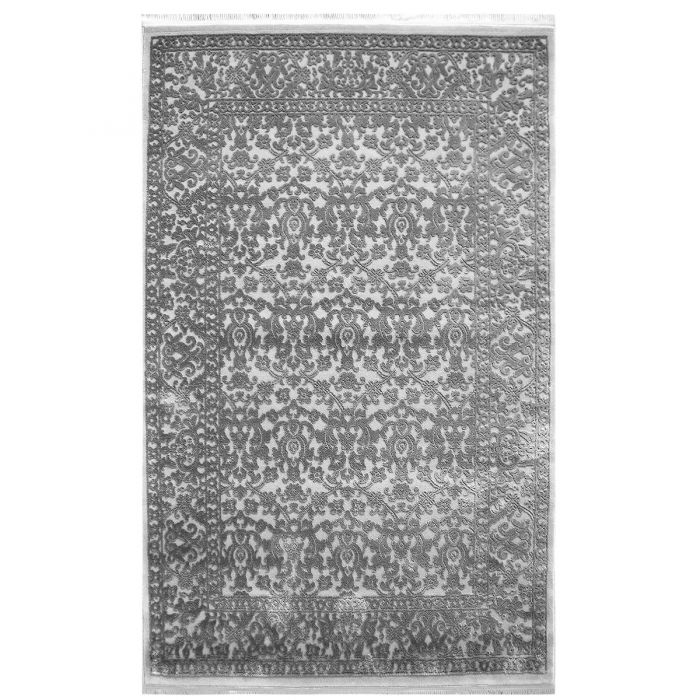 Designer Teppich Grau | 3D Vintage Muster MYP4213S ArtPrem-4213-Grau Alle Artikel