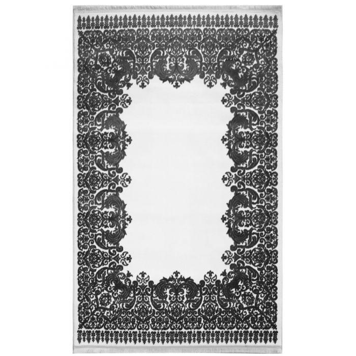 Designer Teppich Grau Creme | 3D Vintage Barock MYP4286 ArtPrem-4286-CreamGrau Skandinavische Teppiche