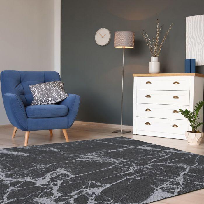 Kurzflorteppich mit Baumwolle | Innovation Grau Look | MY6952 CARINA 6952 Teppich aus Baumwolle