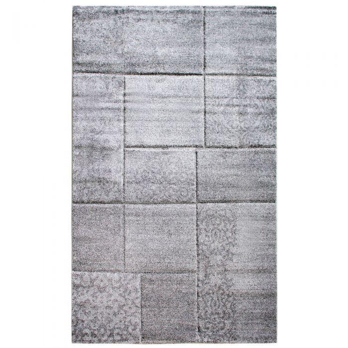 Teppich Wohnzimmer Modern Grau | Karo Muster Konturenschnitt MY7425G Trend-7425-Grau Alle Artikel