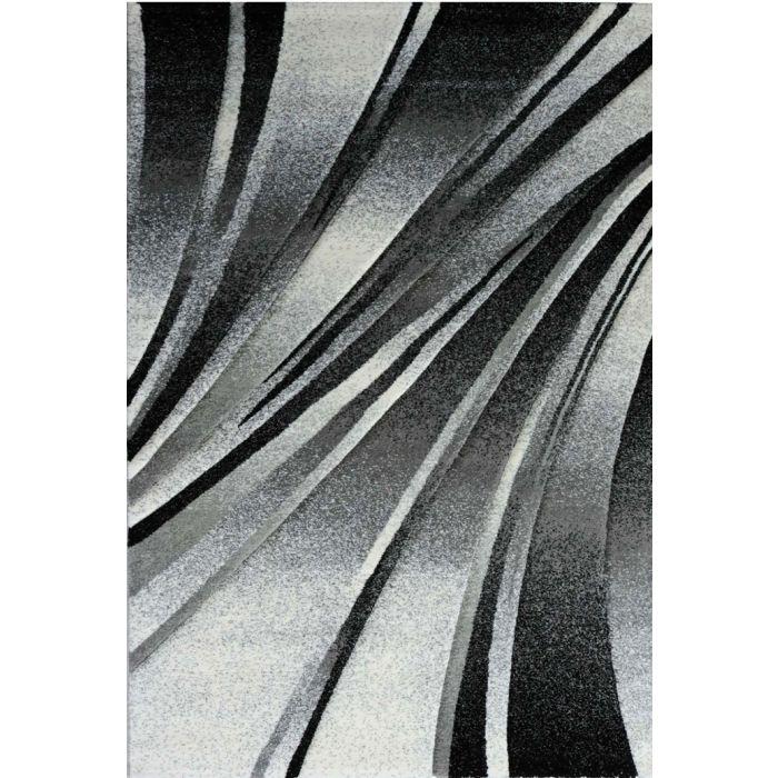 Alle Artikel Teppich Kurzflor Schwarz | Design Geometrische Konturen MY7510