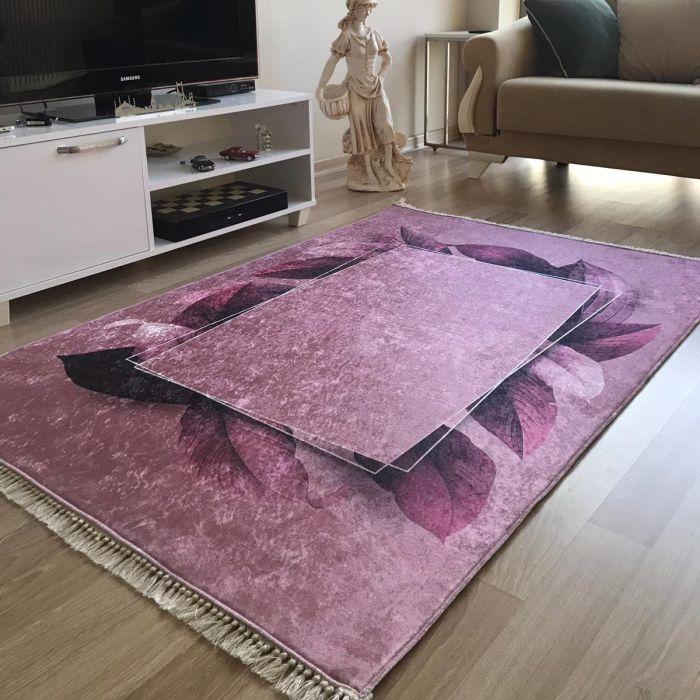 Waschbarer Teppich in Rosa Gold | MY5500 CAIMAS-5500 Aktuelle Trends Waschbare Teppiche