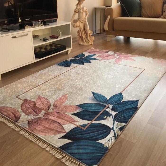 Valetntinstag Antibakteriell Waschbarer Teppich in Beige Rosa Gold | MY5700
