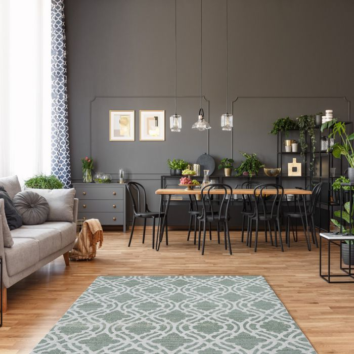 Kurzflorteppich mit Baumwolle | Abstrakt Geo Eis Grün | MY6900 CARINA 6900 Aktuelle Trends 1