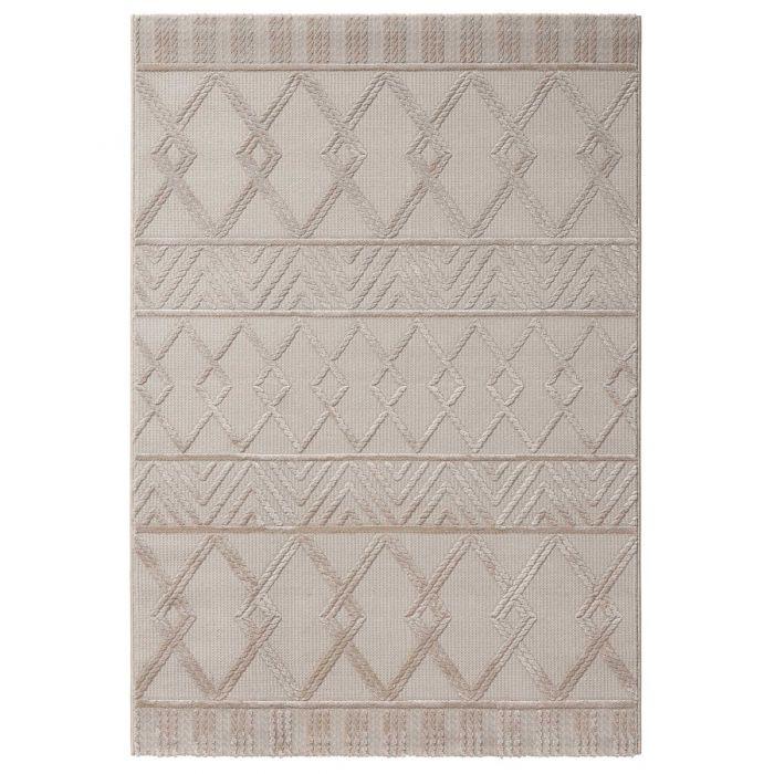 Designer Teppich 3D Skandi Illusion in Beige | MY6200J Luxury-6200-beige Vintage Patchwork Muster