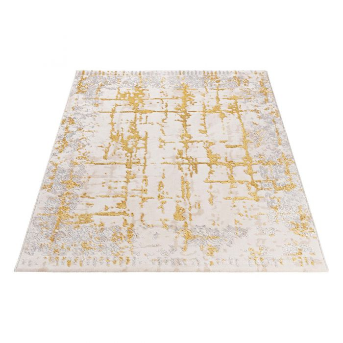 Designer Teppich Mythos Gold in Beige | MY706 Lara-706 Aktuelle Trends Golden Collection Designerteppich