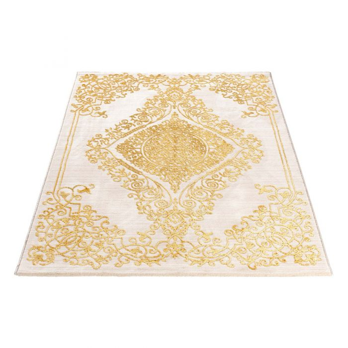Aktuelle Trends Golden Collection Designerteppich Designer Teppich Royal Gold in Beige | MY707