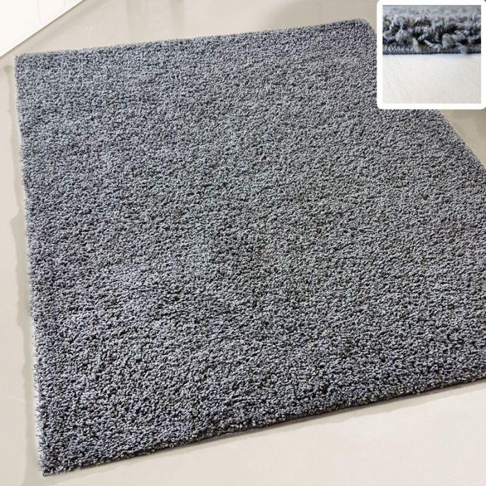 30 mm | Shaggy Hochflor Teppich Dunkel Grau | Einfarbig Uni MY380 MyShaggy-380-Dunkelgrau Schlafzimmer