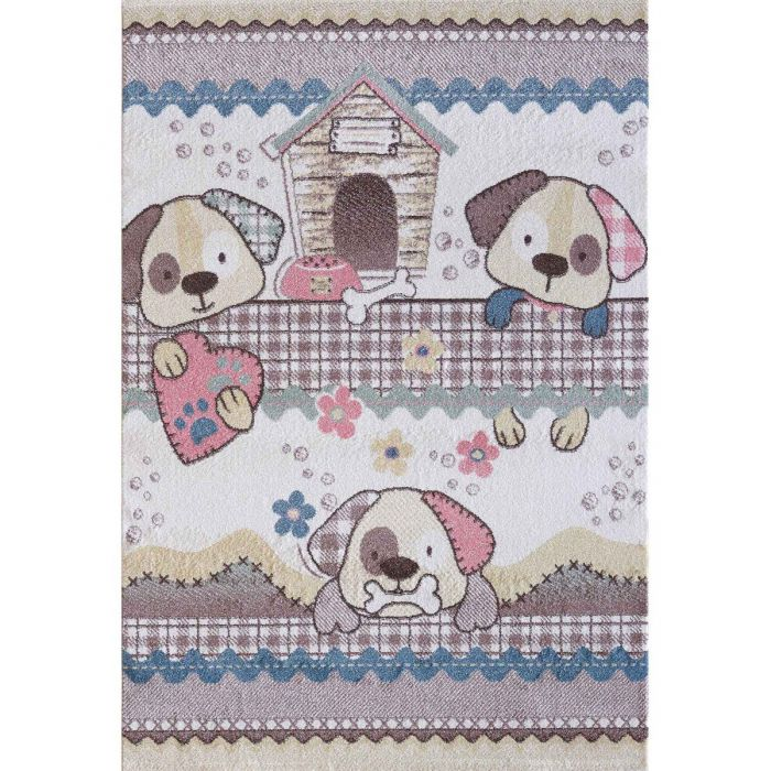 Kinderzimmer Teppich Bunt | H | motiven für Jungs | Mädchen Nr.4603 LunaK-4603-cream für Kinder