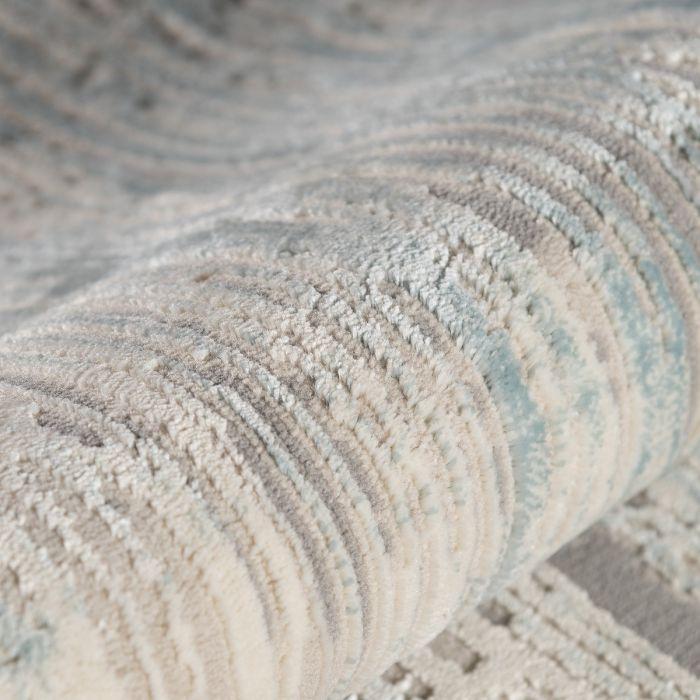Kurzflor Designer Teppich Vintage mit Baumwollerücken | MY6610M Amatis-6610-blau Vintage Patchwork Muster