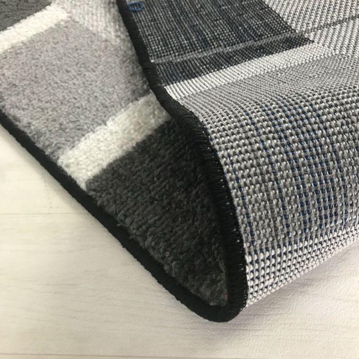 Kurzflor Teppich Grau | Moderne Bordüre MY1740 Medusa-1740-Grau Küche