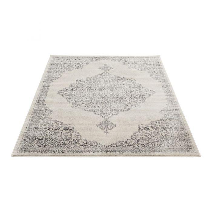 Barock Teppich Kurzflor Creme | Ornament Grau Style | MY3724 Montana 3724 grey Alle Artikel