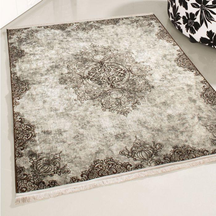 Waschbarer Teppich Beige | Vintage Muster mit Melierung | MY2822 Caimaz-2822-Cream Aktuelle Trends 3