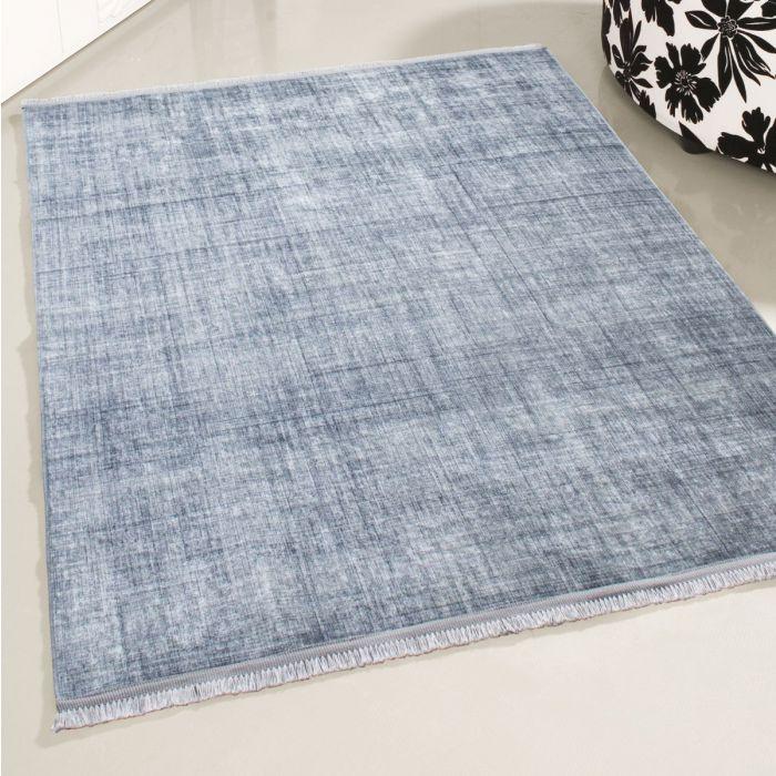 Waschbarer Teppich Jeans Grau | Moderne Linien | Melierung MY2831 Caimaz-2831-Grey Gestreifte Muster