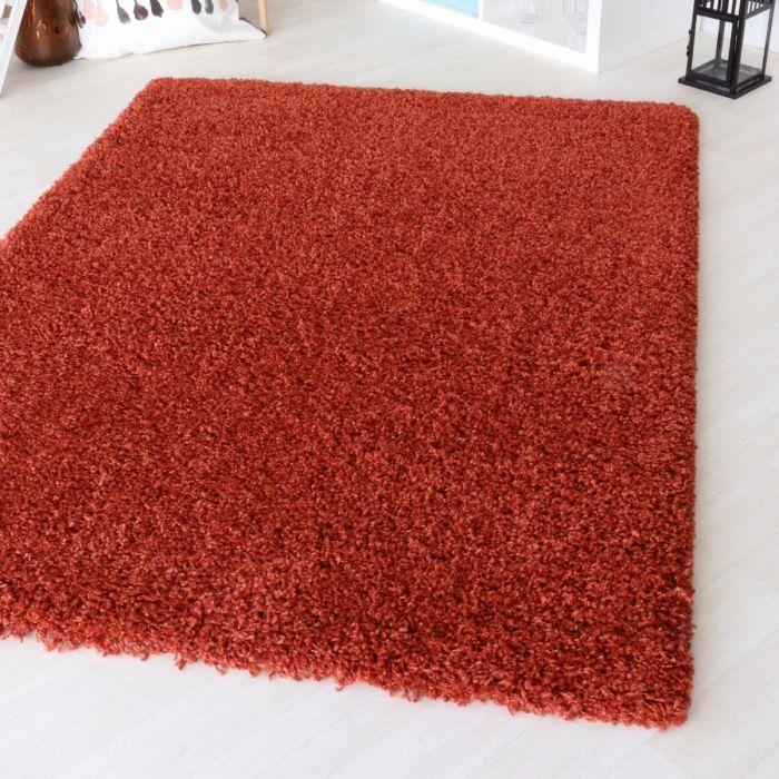 50 mm | Shaggy Hochflor Teppich Orange | 2 Farbige Melierung MY160 Homestyle-160-Terra Kinderteppiche