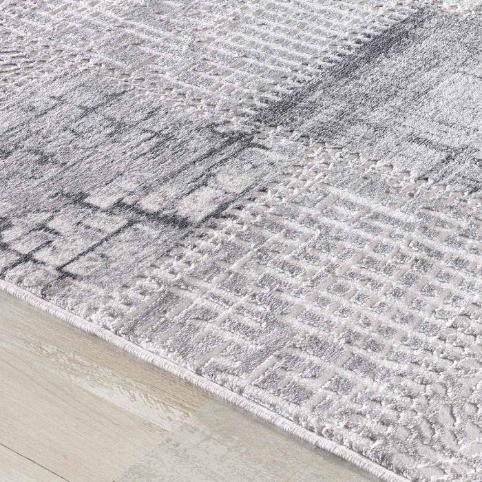 Patchwork Teppich im Vintage gekacheltem Look in Soft Grau MY3202 HAR-3202-Grau Aktuelle Trends Inspirieren
