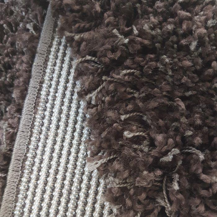 Einfarbige Uni Muster Outlettverkauf | 50mm Shaggy Teppich Berber Look Braun | MY087V