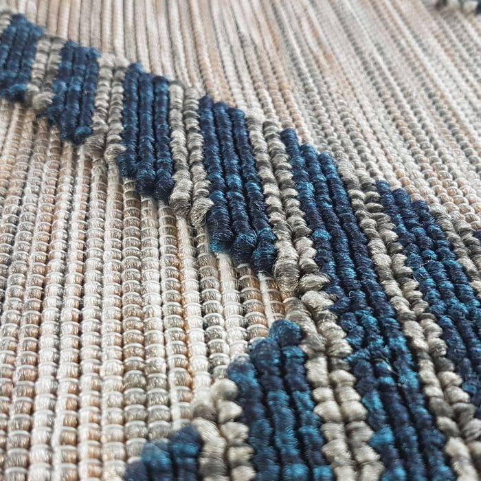 Outdoorteppich in Blau Natur mit 3D Struktur | Innen | | und Außenbereich geeignet | MY3440 Road-3440 Abstrakte Muster