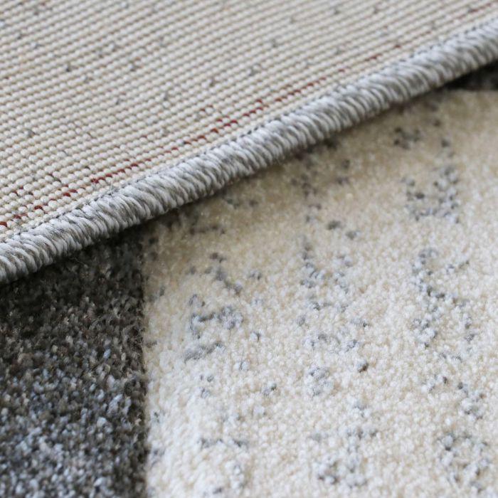 Teppich Wohnzimmer Modern Grau | Kurzflor Kariert mit Konturen MY7423G Trend-7423-Grau Alle Artikel