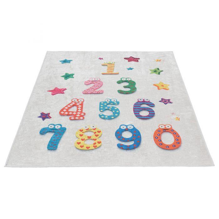 Waschbarer Kinderzimmer Teppich | Lernteppich Zahlen MY4060 Caimaz-4060 Kinderteppiche