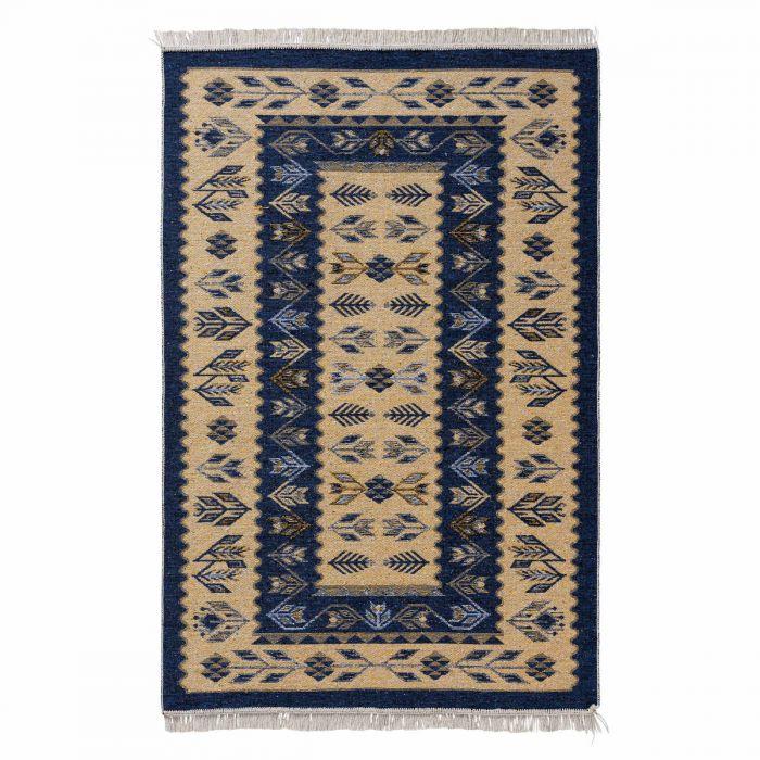 Kurzflor Teppiche Antibakteriell Waschbarer Wendeteppich aus recycelter Baumwolle im Vintage Kilim | MY9920M