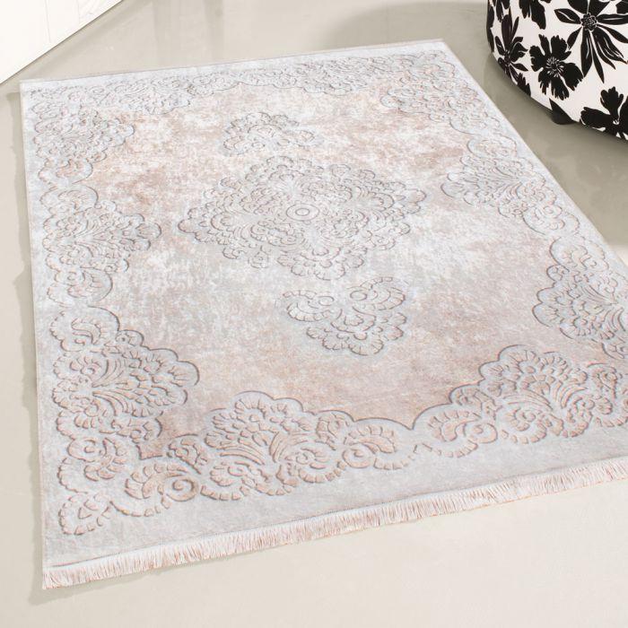 Waschbarer Teppich Beige | Barock Vintage Muster | MY2930 CAIMAS-2930-Cream Vintage Patchwork Muster