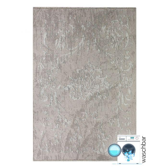 Outdoor Antibakteriell Teppich Waschbar Beige | Modernes Kelim Design | MY1000J