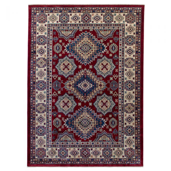 Hochwertiger Orientteppich Seidenimitat | Kurzflor Rot MY1354 Ornament 1354/030 rot Schlafzimmer