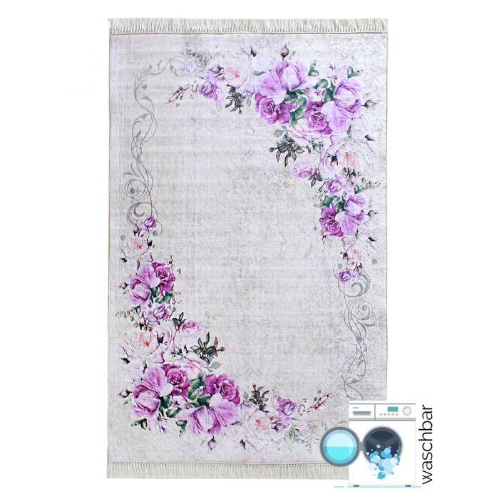 Waschbarer Teppich Lila | Designer Blüten Shabby Chic Cottage Stil | MY2210 Caimaz-2210 Aktuelle Trends 3