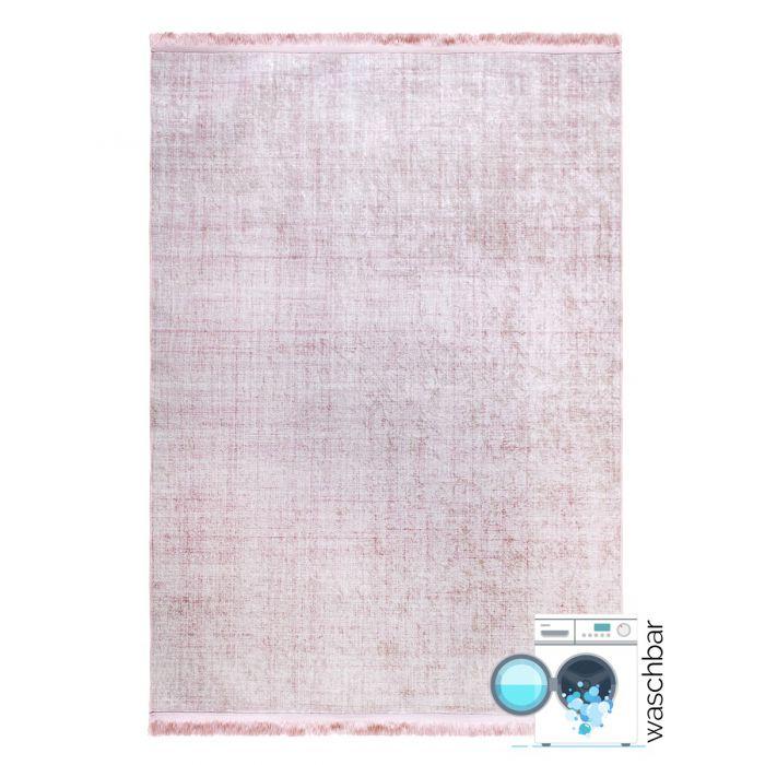 Teppiche in Rosa Antibakteriell Waschbarer Teppich Rosa | Moderne Linien | Melierung MY2832