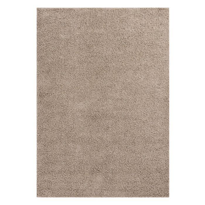 160x220 cm Shaggy Hochflor Teppich Beige Meliert Uni MY383 30 mm 48182 Teppiche in 160x230 cm