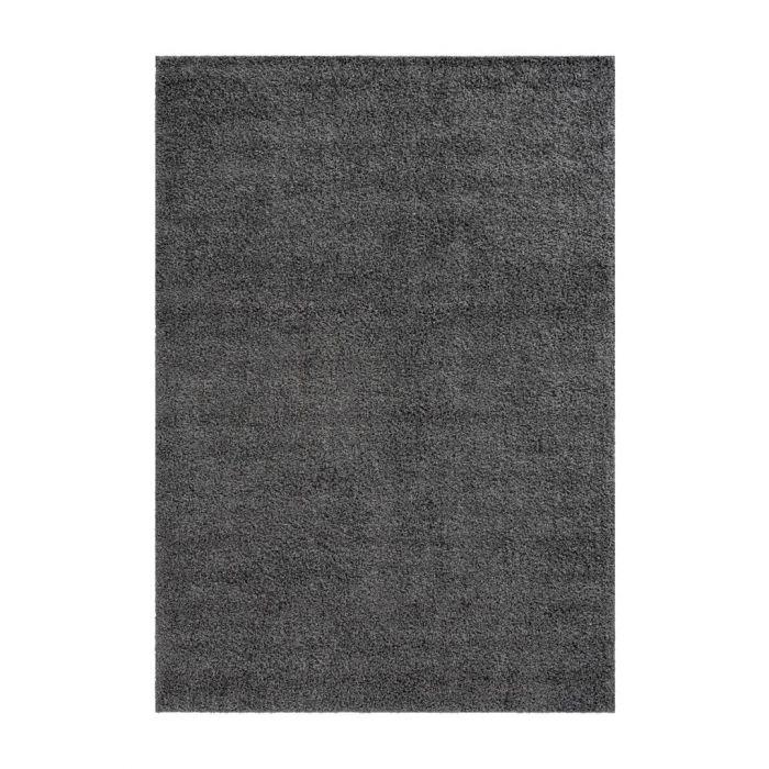 160x220 cm Shaggy Hochflor Teppich Dunkelgrau Meliert Uni MY383 30 mm 48180 Teppiche in 160x230 cm