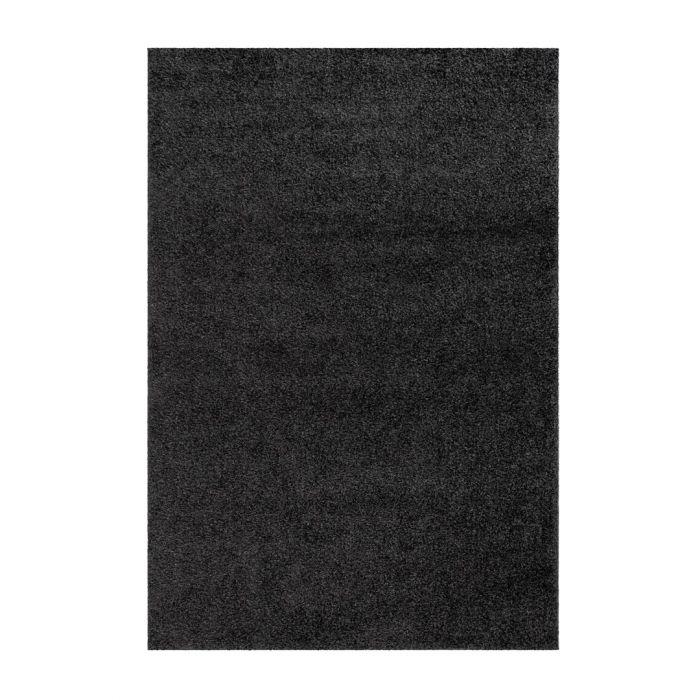 Teppiche in 160x230 cm 160x220 cm Shaggy Hochflor Teppich Schwarz Meliert Uni MY383 30 mm