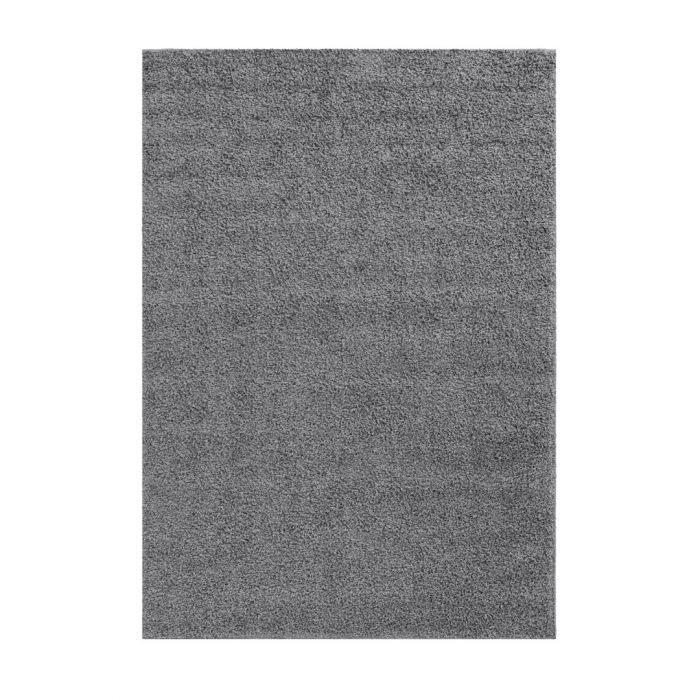160x220 cm Shaggy Hochflor Teppich Grau Meliert Uni MY383S 30 mm 48179 Teppiche in 160x230 cm