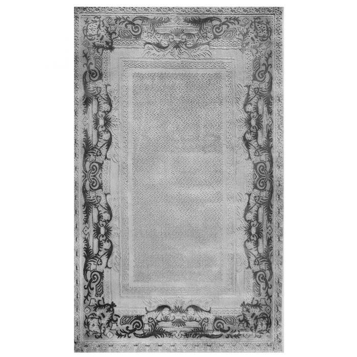 Designer Teppich Grau | Ornament Bordüre Design MY4190G Art-4190-Grau Alle Artikel