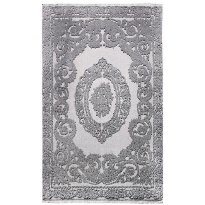 Designer Teppich Grau | 3D Medaillon Muster MYP4204S ArtPrem-4204-Grau Aktuelle Trends - Aktuelle Angebote
