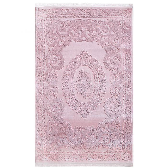 Designer Teppich Rosa | 3D Medaillon Muster MYP4204RO ArtPrem-4204-Rose Alle Artikel