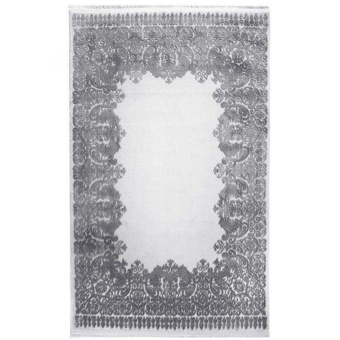 Designer Teppich Grau | 3D Vintage Barock MYP4286 ArtPrem-4286-Grau Skandinavische Teppiche