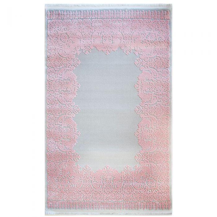 Skandinavische Teppiche Designer Teppich Grau Rosa | 3D Vintage Barock MYP4286