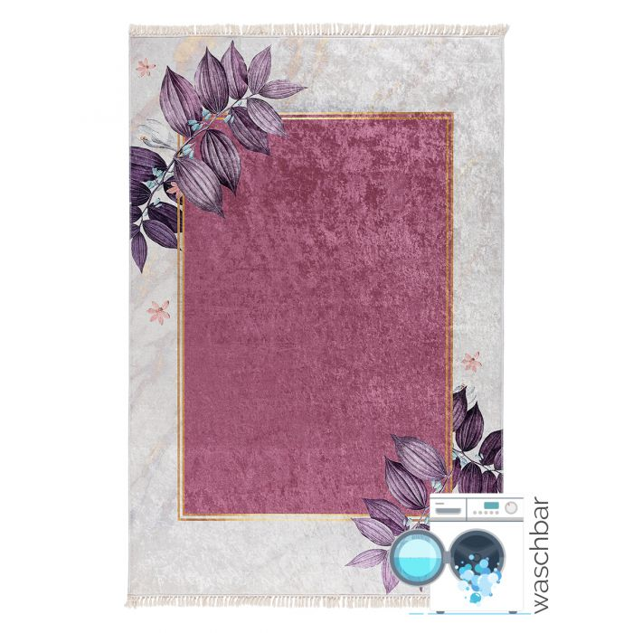Aktuelle Trends Waschbare Teppiche Antibakteriell Waschbarer Teppich in Creme Rosa Gold | MY5100