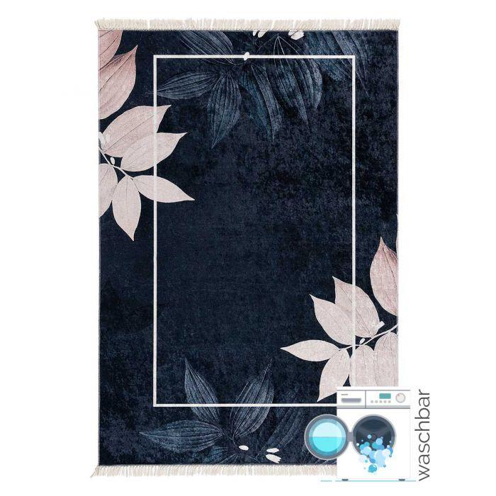 Aktuelle Trends Waschbare Teppiche Antibakteriell Waschbarer Teppich in Schwarz Rosa Gold | MY5600
