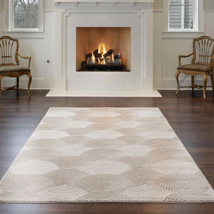 Designer Teppich 3D Dropdream in Beige | MY6000J Luxury-6000-beige Aktuelle Trends-Jetzt Teppich vorbestellen